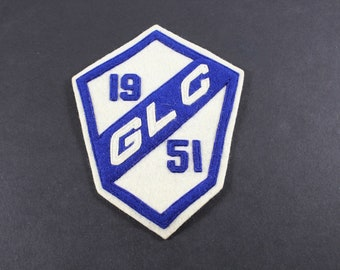 1951 Jacket Patch GLC Good Looking Chick Blue and White