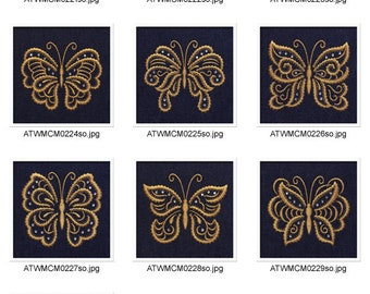 Butterfly-One-Color ( 10 Machine Embroidery Designs from ATW )