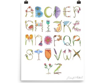Alphabet Poster- Whimsical Nature