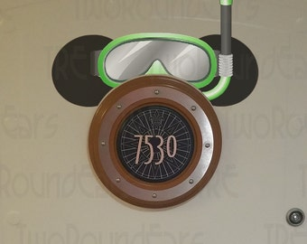 DCL Stateroom Door Porthole Ears - Snorkel Set