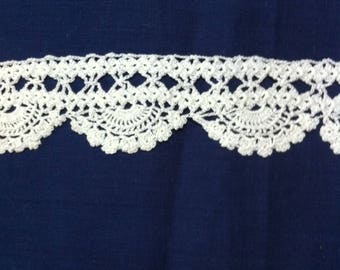 Number 2 hand made crochet lace shell
