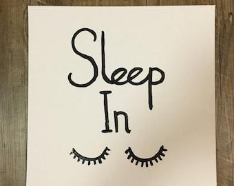Sleep In canvas