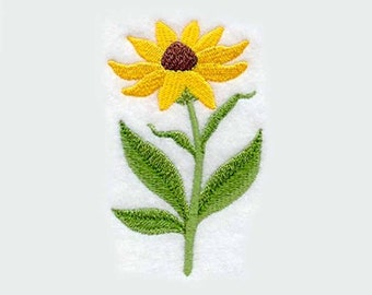Black Eyed Susan Flower Tea Towel | Embroidered Kitchen Towel | Kitchen Towel | Flower Towel | Personalized Kitchen Towel | Yellow Daisy