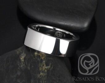 Rosados Box Urban 8mm Tungsten European/Square Shaped High Finish Band