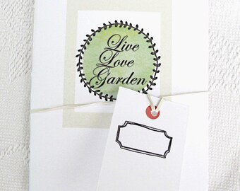 Pocket Garden Journal:  Live, Love, Garden Collection 20 pages