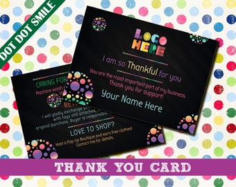 Dot Dot Smile Care Cards / Thank You Card; dotdotsmile, dot dot, dotdotsmile care, dotdotsmile business, thank you cards, dds card, Digital