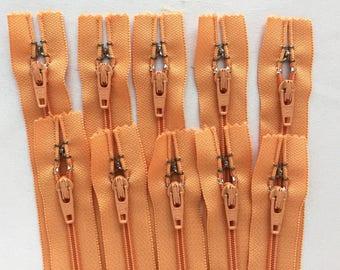 10 pcs 8 inch YKK Closed Bottom Zippers - Apricot