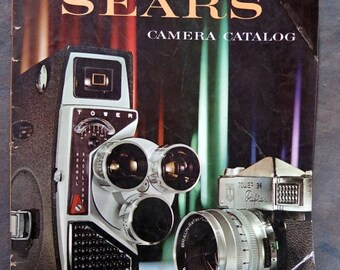 BTS Vintage 1960 SEARS Camera Catalog Photography Equipment Supplies