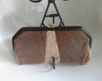 Vintage Kangaroo fur clutch by Lispeer Trading