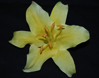 Yellow Lily Hair Clip Retro, Wedding, PinUp - Buy 3 Items, Get 1 FREE