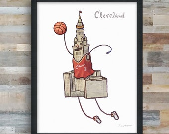 Cleveland- Terminal Tower Basketball