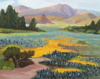 Mountain Meadow - Fine Art Giclée of Original Oil