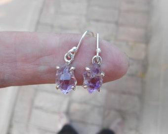 Amytheist Herkimer Diamond Earrings