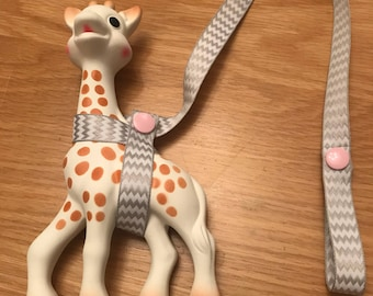 Sophie The Giraffe - Teething Toy Saver - Sophie Giraffe Strap - Sophie Saver - Giraffe Harness - Baby Shower Gifts - Baby Gifts - Baby