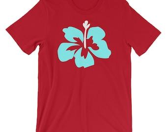 Tropical flower T-Shirt, Summer t-shirt, Tshirt for Summer, Vacation Tshirt, Tropical Tshirt