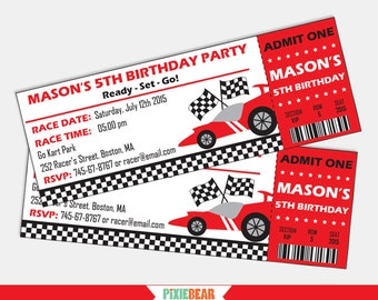 Race Car invitation - Race Car Birthday invitation - Racing Party - Race Car Party - Racing Birthday -Go Kart - Car Party (Instant Download)