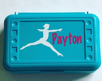 Personalized Pencil Box, Gymnast, Gymnastics, Back to School, School Supplies, Pencil Case, Pencil Box, Gymnast Pencil Box, School Box