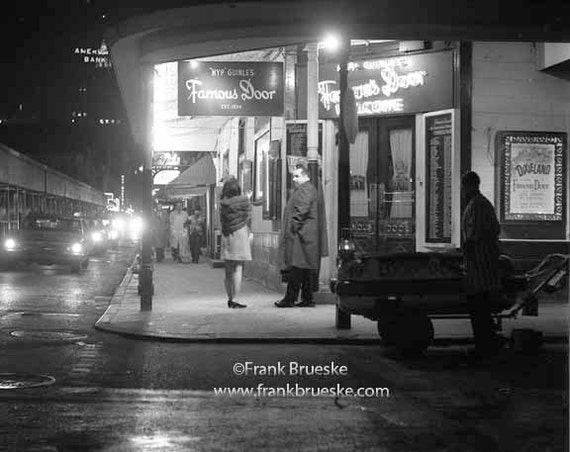 Black white fine art photography bourbon street the famous