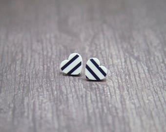 Sweetheart Laser Cut Acrylic Love Heart Stud Earrings