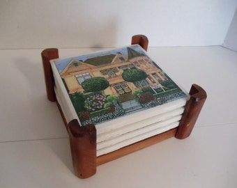 Victorian House Ceramic Coasters