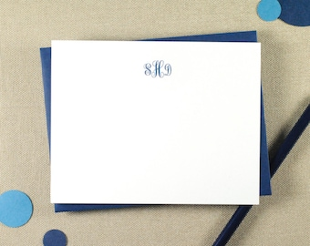 Classic Monogrammed Notecard Set / Personalized Monogram Stationery Set / Personalize Your Stationary Set