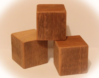 Unfinished Cedar Block, Square Wood Block for Crafts 3-1/2""