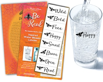 Be Real Water Blessing Labels