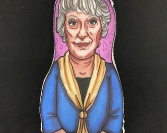 Dorothy Petrillo-Zbornak Golden Girls Inspired Plush Doll or Ornament