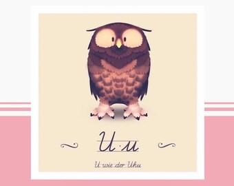 Animal ABC - U like eagle owl