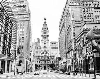 City Hall - North Broad Street  - Philadelphia Photo - Luxury Art - Wall Decor - Philadelphia Photography - Philadelphia Art