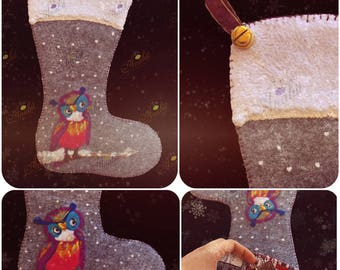 The Owl Personalized Christmas Stoking