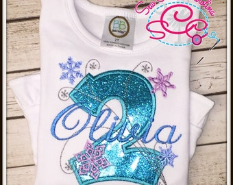 Personalized Snowflake Birthday Shirt/Bodysuit