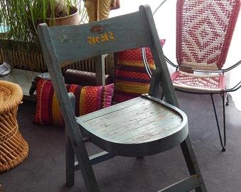 Cinema room original teak Chair H = 83 L = 47 P = 49 cm Tha-daga India