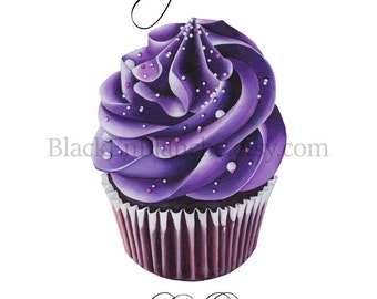 Cupcake Art Print / Chocolate Cupcake Art / Cupcakes Art / Be a Cupcake / Bakery Art / Food Art / Bakery Quote / Dessert Art / Baking Gift