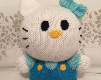 Knitted Hello Kitty stuffed toy
