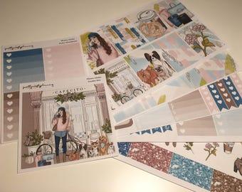 Miami Walks   Weekly Kit for Erin Condren, Planner Sticker Kit, Chilly Days, Winter Planning Kit, Full Kit