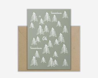 Greeting Card 'CHRISTMAS FOREST'