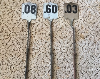 Reaching 60 Is A Plus Antique Cash Register Tag Flag