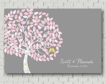 Wedding Tree Wedding Signs Guest Book Canvas, Wedding Guest Book Alternative Wedding Gift Ideas Wedding Keepsake Bridal Shower Gift Poster