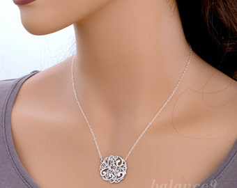 Filigree necklace etsy aloadofball Image collections