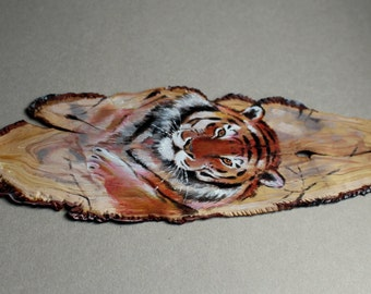 Tiger polymer clay bookmark
