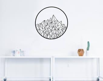 Geometric Mountain Decal