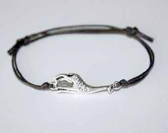 Giraffe Bracelet or Anklet in Silver, Silver Giraffe Bracelet, Animal Lover Gift, Safari Bracelet, Zoo Animal Jewelry, Gift For a Child