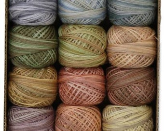 Valdani 3 Strand Floss Collection - Muddy Monet - 12 balls - 32 yards each...FREE SHIPPING