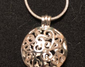 Round Locket Necklace