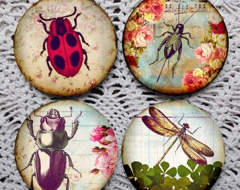 Lucky Bugs -- Good Fortune Insects Mousepad Coaster Set
