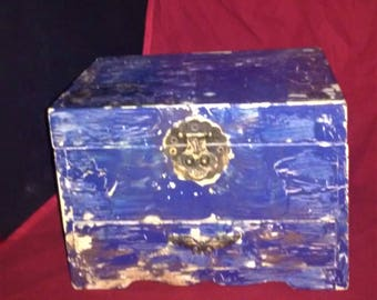 Rustic Hand Painted Trinket Box