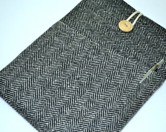Wool Herringbone 17 inch laptop sleeve, laptop case 17 inch, laptop bag 17 inch, 17 inch laptop case,17, 17 inch macbook pro case, sleeve,