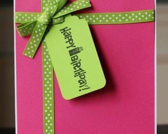Happy Birthday Present Card