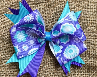 The Turquoise Flowers Bow